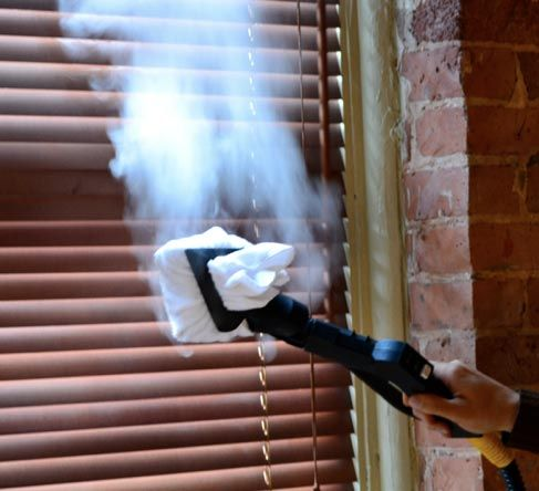 Steam cleaning your venetian blinds.  This works so fast and so perfect, I did on white blinds...came out like brand new in a few minutes.