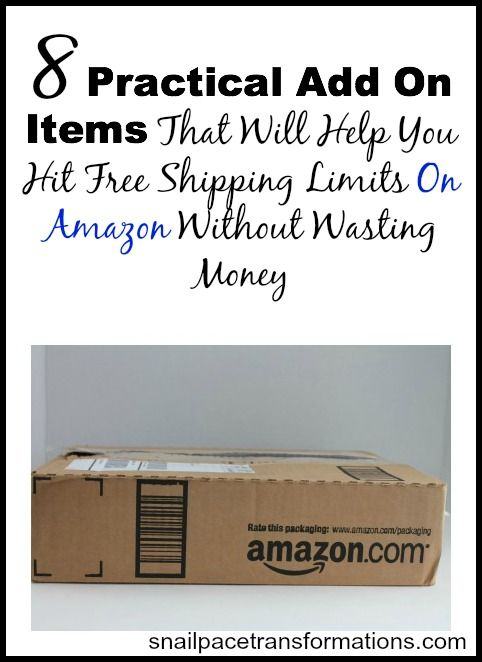 Keep this list on hand for when you are just a few dollars short of reaching Amazons free shipping and top off your cart with practical every day items that your family needs and uses regularly.