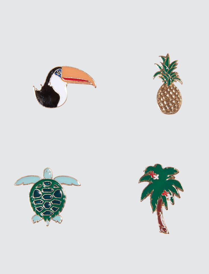 Set de Pins Tropicaux