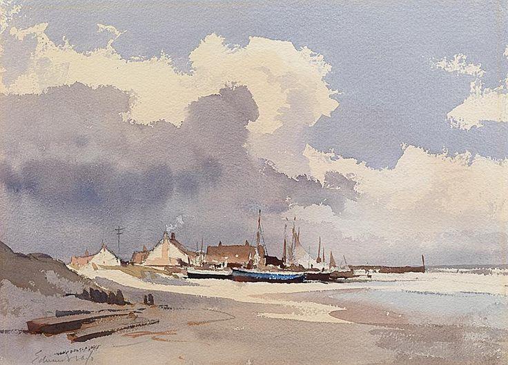 Edward Seago - Longshore boats.