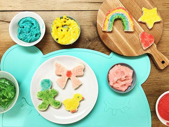 recept, eetbare, vingerverf, ingrediënten, maken, hoe, eten, verf, baby, kind, peuter, kleuter, opeten, vingers, vinger, spelen, activiteit, tip, idee, pasta, verjaardag, partijtje, feestje, regenboog, kleuren, vrolijk, feest, doen, vakantie, koekjes, bakken, brood, zoet, chocopasta, chocola, chocolade