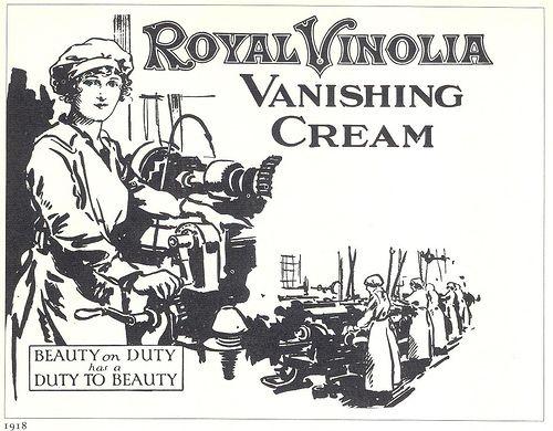 Royal Vinolia Vanishing Cream ad, 1918 by Gatochy, via Flickr
