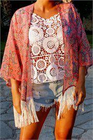Fringed kimono - ΡΟΥΧΑ -> Jackets & kimono   Made of Grace