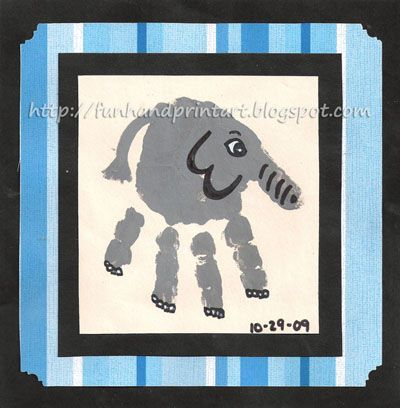 Handprint elephant