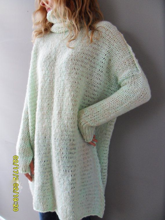 Oversized Chunky knit sweater / tunic. by RoseUniqueStyle