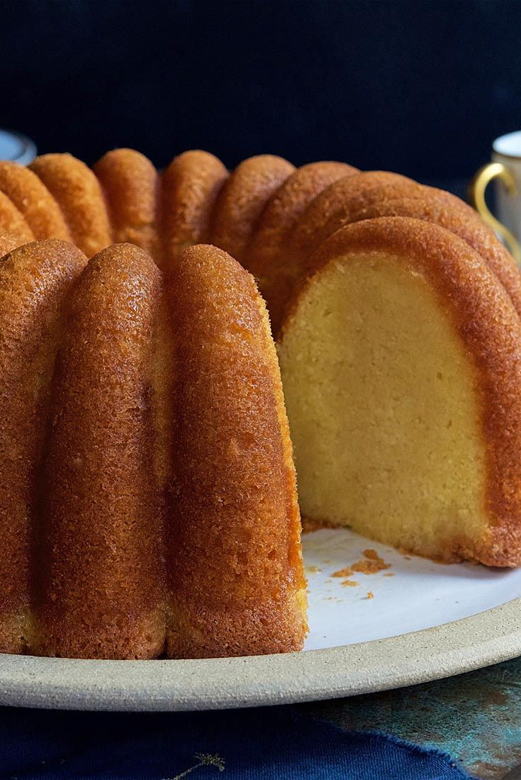 Caribbean Rum Cake Recipe-KAF-optionally use rum *flavor* - there's pudding in the mix for a super smooth product-maybe use butterscotch instead of vanilla! (www.ChefBrandy.com)