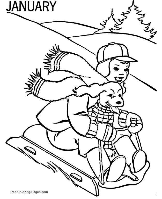 Free N Fun Easter Coloring Pages : 180 best kids winter color fun images on pinterest