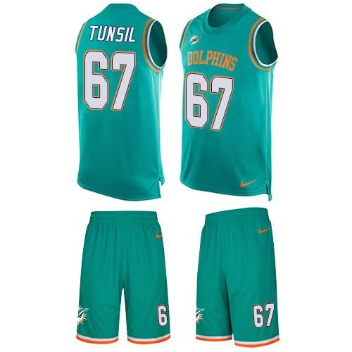 Nike Dolphins #67 Laremy Tunsil Aqua Green Team Color Men's Stitched NFL  Limited Tank Top