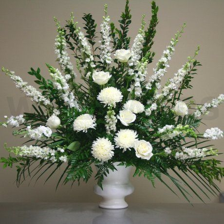 Large+Flower+Arrangements+for+Church | Flowers product: Blessings Large White Arrangement