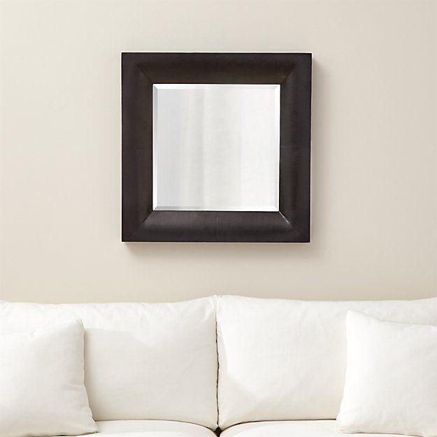 Maxx Black Wall Mirror   Crate and Barrel