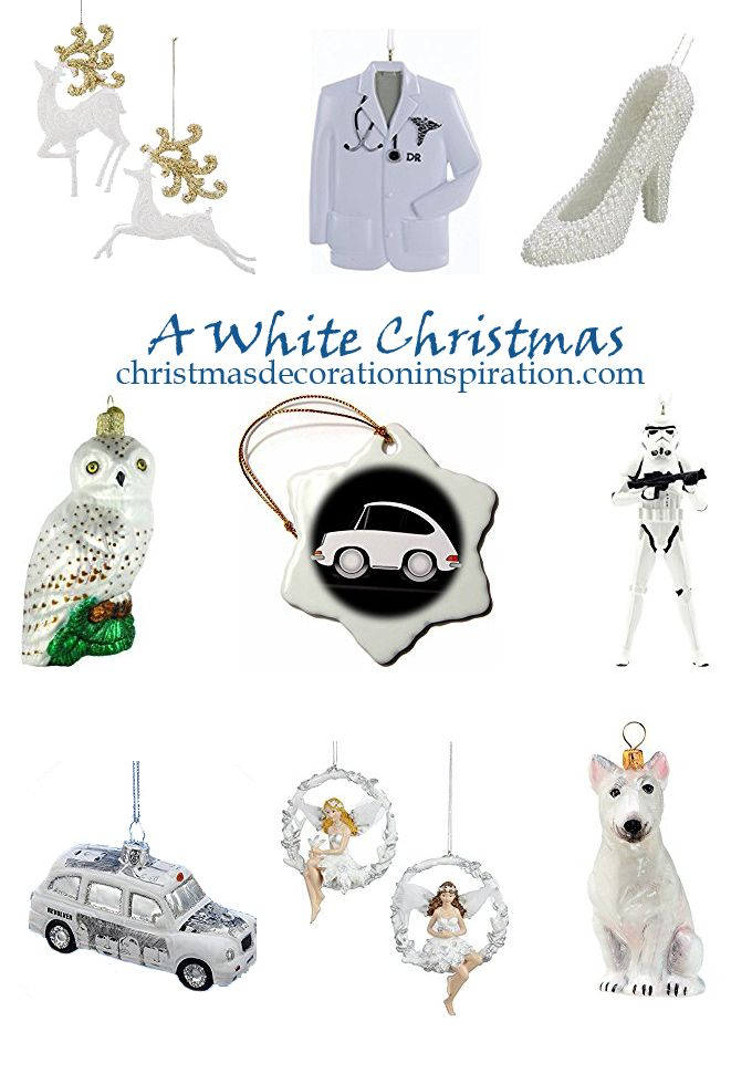 Over 50 White Christmas Ornaments from Christmas Decoration Inspiration