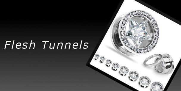 Flesh Tunnels für gedehnte Ohrlöcher!