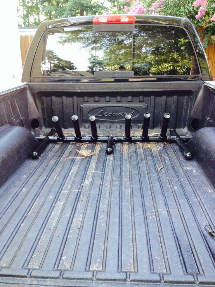 16 best rod racks images on pinterest surf fishing rod for Fishing pole rack for truck