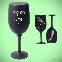 """Coffret Vin Verre à Pied """"Open Bar"""""""