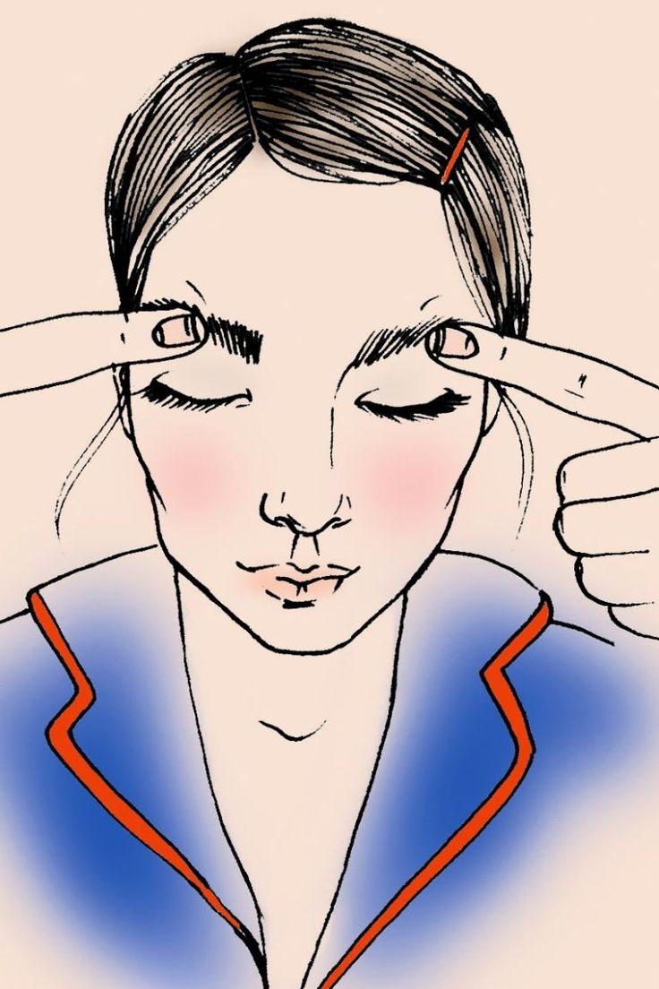 Depuff your eyes using light  pressure sweep your fingers along the brow bone.