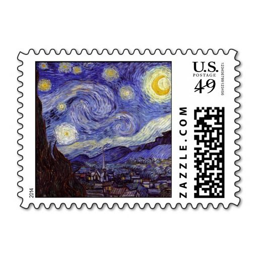 Vincent van Gogh Starry Night Postage