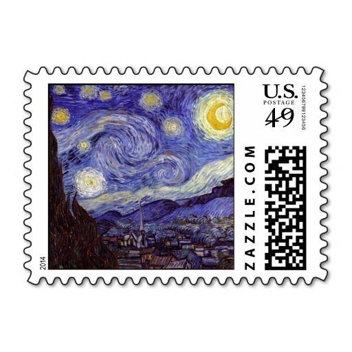 Vincent van Gogh Starry Night Postage