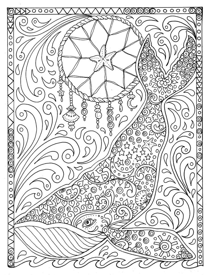Coloring Pages Of Spirit Animals : Best images about ♋adult colouring under the sea