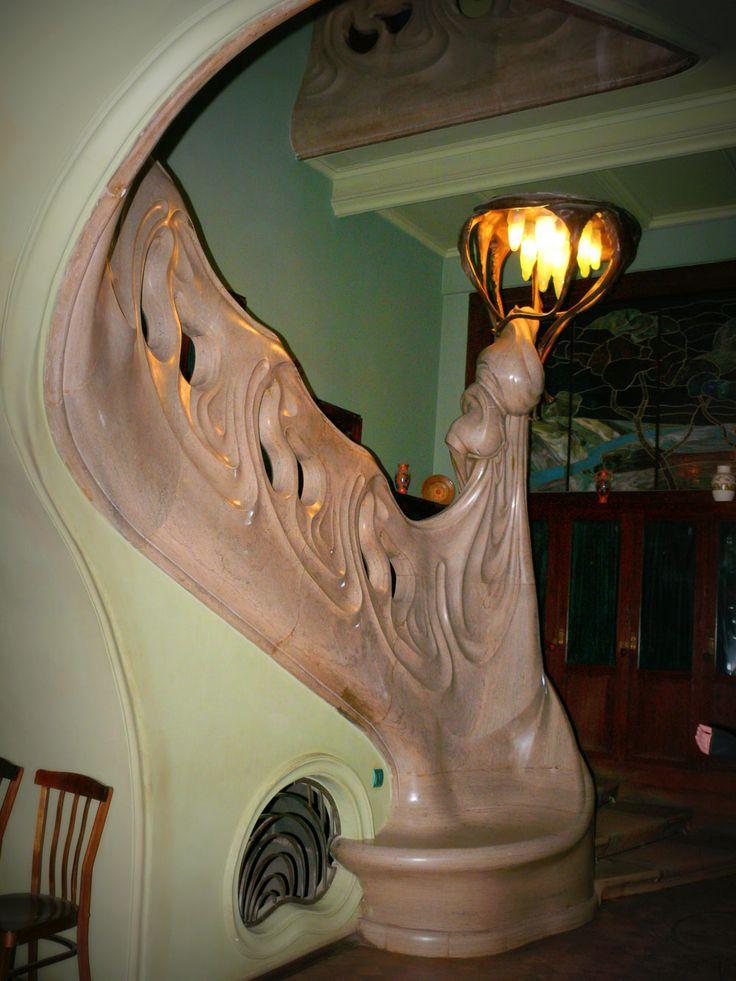 Interiors - Art Nouveau -   Art nouveau interior, Art nouveau and Art nouveau architecture