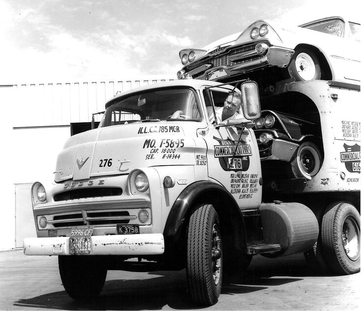 1957 Dodge 700 COE with a load of 1959 Dodges. | 1957 ...