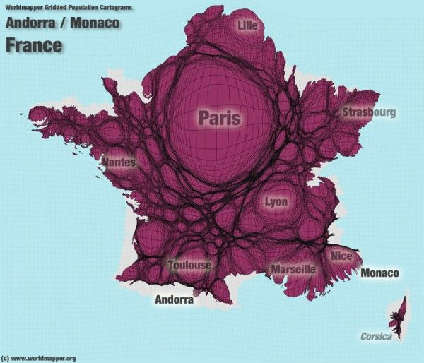 #France #Map - Megalopolis Pattern  #dataviz