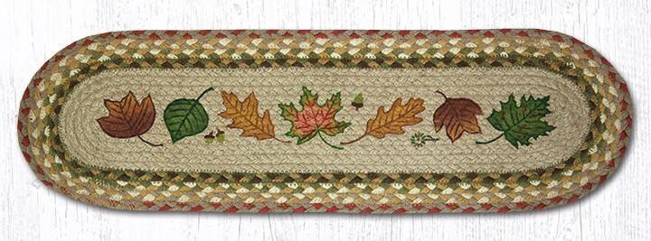 Autumn Leaves 8.25″ x 27″ Braided Stair Tread