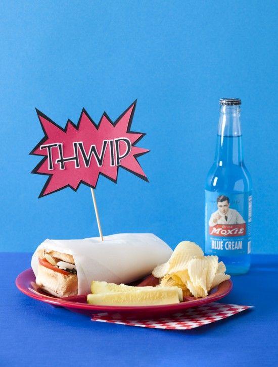 All-american hero food idea.