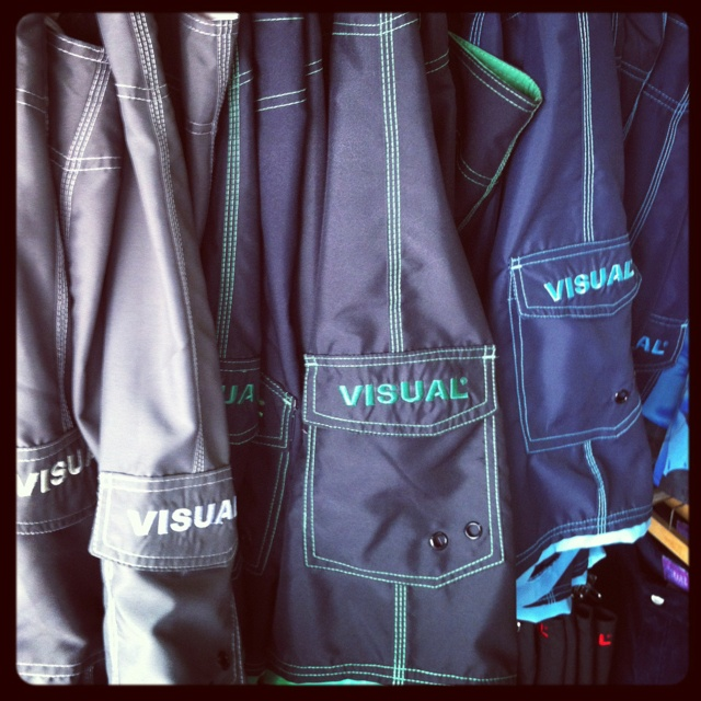 VISUAL surf shorts in new colors.