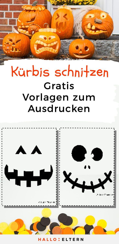 Halloween Special Vorlagen Zum Kurbisschnitzen 11