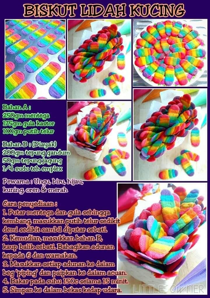 Biskut Lidah Kucing Biscuit Recipe Yummy Cakes Cookie Recipes