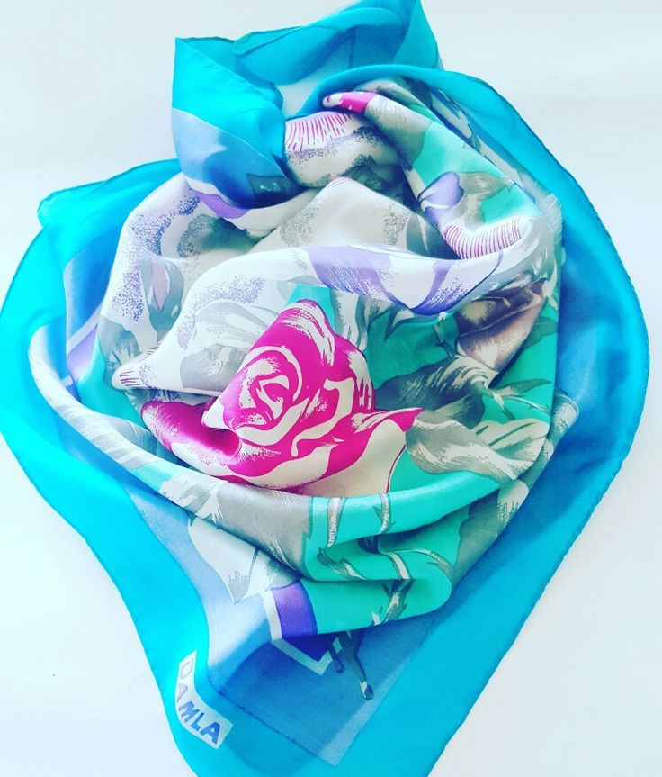 #vintage #fashion #silk #flowers #roses #damla #turkish #turkey #scarf # scarves #eşarp