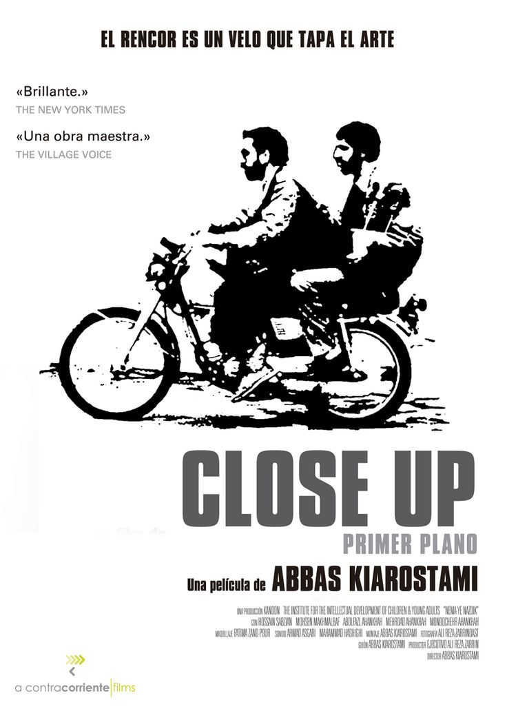 El iraní Abbas Kiarostami mezcla documental y drama a través de una historia en el que un fanático del cine finge ser el reputado director Mohsen Makmalbaf. (FILMAFFINITY)