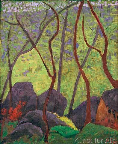 Paul Serusier - Rochers dans la forêt de Huelgoat