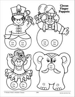 Circus: Finger Puppet Patterns