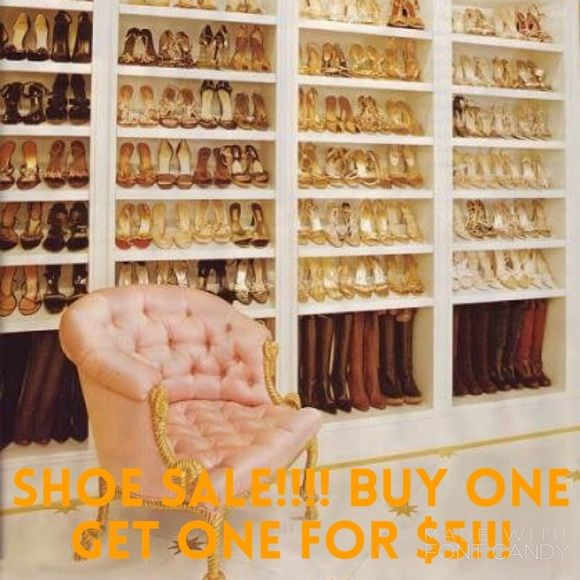✨Shoe Sale✨ Buy one pair of shoes and get the second for $5!!!! (The $5 pair excludes Ugg and Kate Spade) Shoes