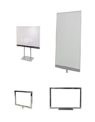 PlexiGlass, Metal Sign holders and Accessories - http://www.idealdisplays.ca/12_sign_holders.html