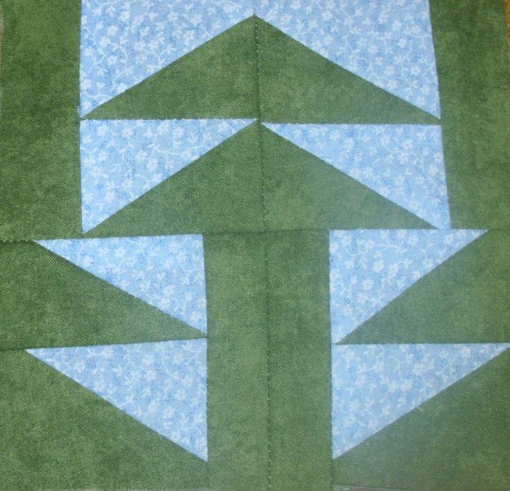 202 best farmers wife quilt block ideas images on Pinterest ... : pine tree quilt block - Adamdwight.com