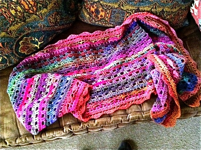 Crochet Pattern Ruana Squareone For