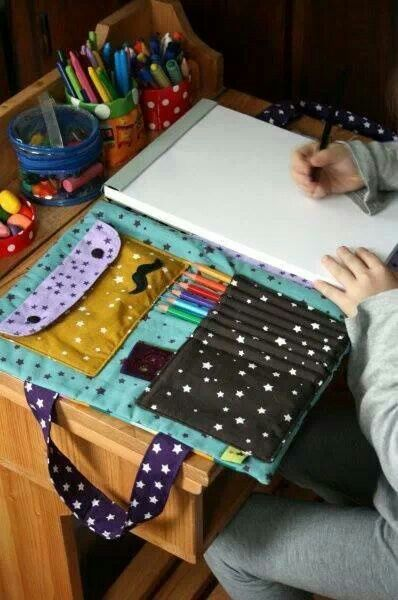 I want to make this! Except with the notebook on the other side because I'm left handed.