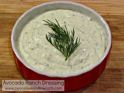 Avocado Ranch Dressing - Low Carb, Gluten Free | Peace, Love, and Low Carb