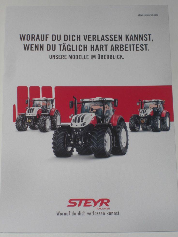 STEYR PROFI, TERRUS CVT, MULTI Traktoren Prospekt 10/16, TERRUS Poster (1216)   eBay