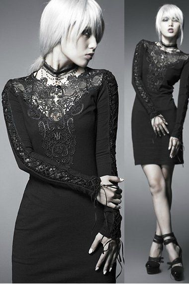 Black Nightingale Gothic Dress by Punk Rave, Product Code: 6-PRV6177-Q210.  Price: £38.50 #Sisters #WishList