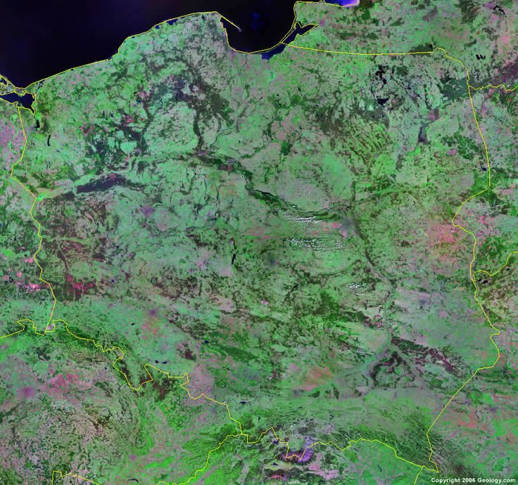 Poland satellite photo