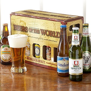 Beers of the World 10-pk | World Market  Awesome way of trying new beer without wasting money.