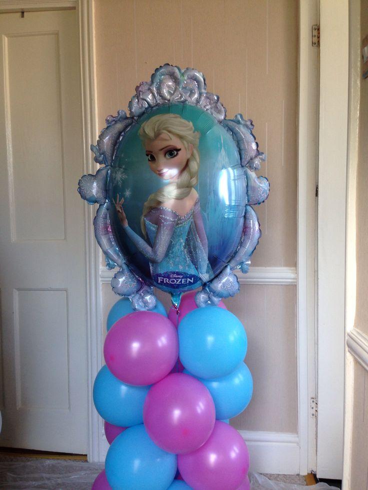 14 best decoracion frozen images on pinterest balloon for Frozen balloon ideas