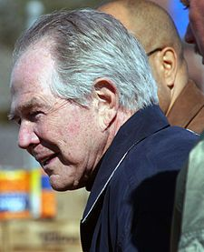 """Feminism encourages women to leave their husbands, kill their children, practice witchcraft, destroy capitalism, and become lesbians."" said by Rev. Pat Robertson at the 1992 Republican National Convention. Paparazzo Photography.jpg"