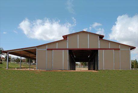 Image detail for aisle barns pole horse barns horse for Hay pole barns