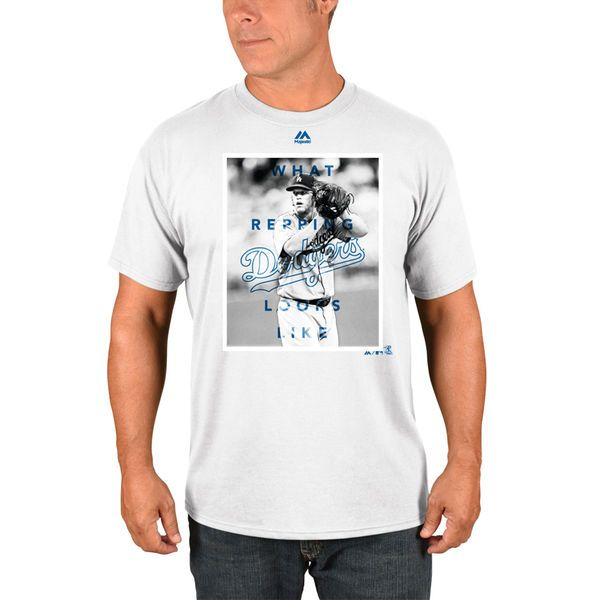 Clayton Kershaw Los Angeles Dodgers Majestic Walk Off Player T-Shirt - White - $29.99
