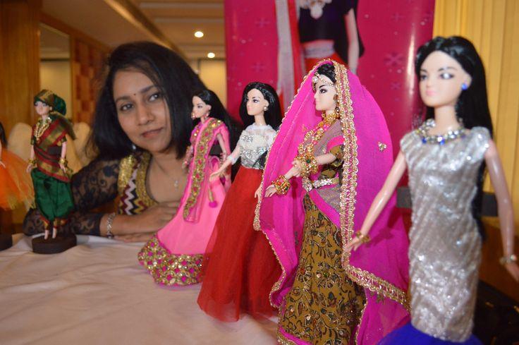 'Kiyaa'- India's Own Fashion Doll Launched seen in this pic is T. Sailaja Fashion Designer cum Entrepreneur --wallstanalyst.com