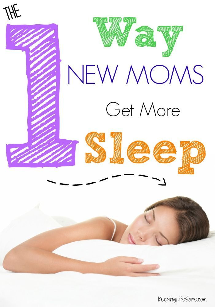 I wish someone had told me this advice when I had my first baby! The #1 Secret to Better Sleep for New Moms - Keeping Life Sane